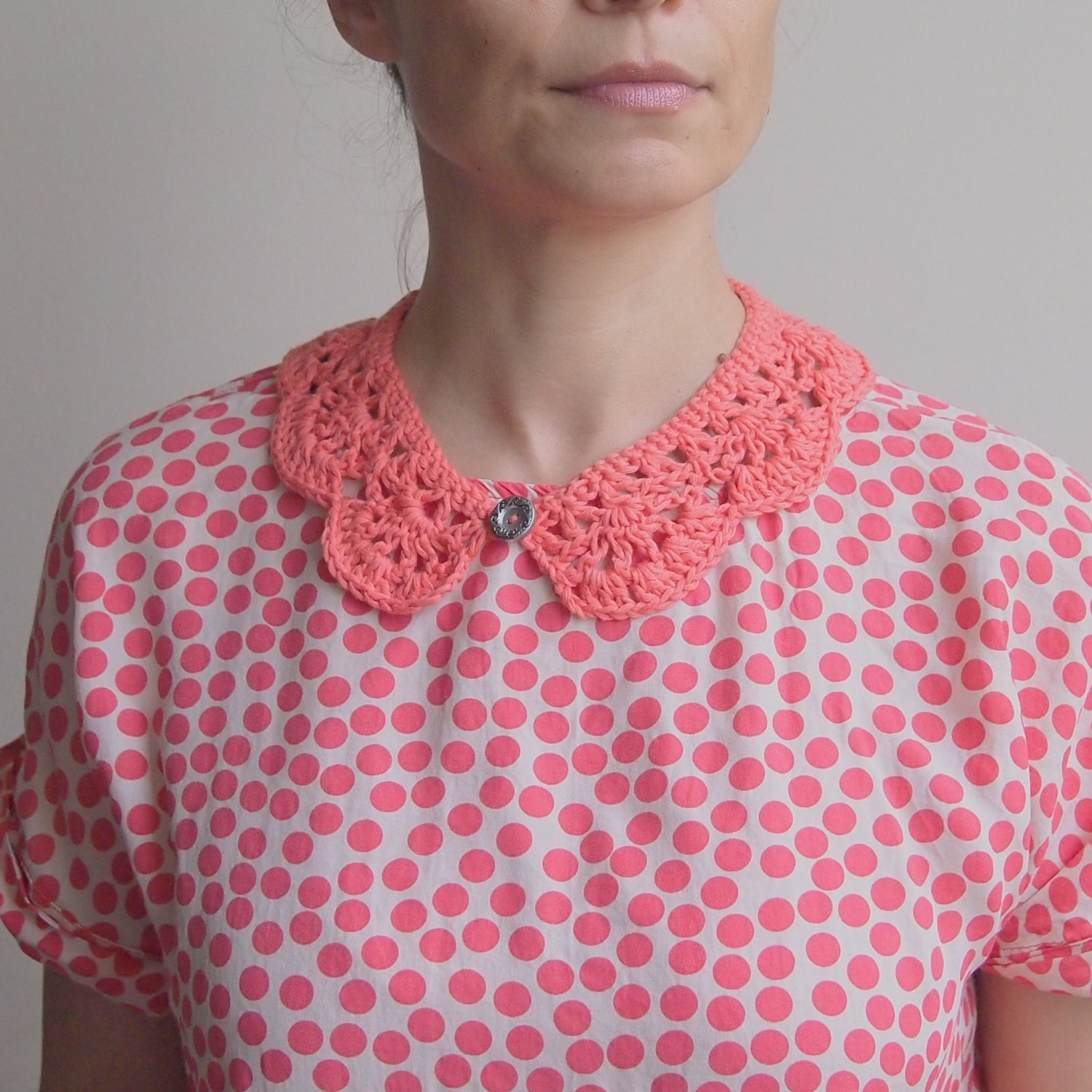 Crochet collar pattern girl peter pan collar crochet cowl zoom bankloansurffo Image collections