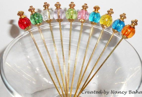 Cocktail Martini Picks, Best Seller Beaded Appetizer Picks, Martini Picks, Olive Picks, Hors d'oeuvres Picks, Holiday Party, 8mm Beads
