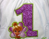 Ari's Angels Personalized Girls Birthday Tinkerbell, Fairies, Shirt Embroidered, Appliqued, Monogrammed
