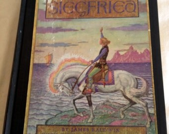 1930's Story of Siegfried Illustrated Collectible Book By James Baldwin Amazing Full Color Illustrations by Peter Hurd 1931 Edition VG Cond