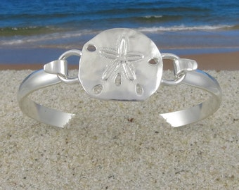 Cape Cod Convertible Sterling Silver Sand Dollar Bracelet