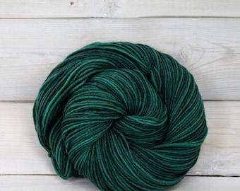 Aspen Sport - Hand Dyed Superwash Merino Wool Sport Yarn - Colorway: Emerald