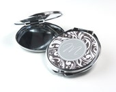 Personalised Compact Mirror - Pocket Mirror - Swirl P10