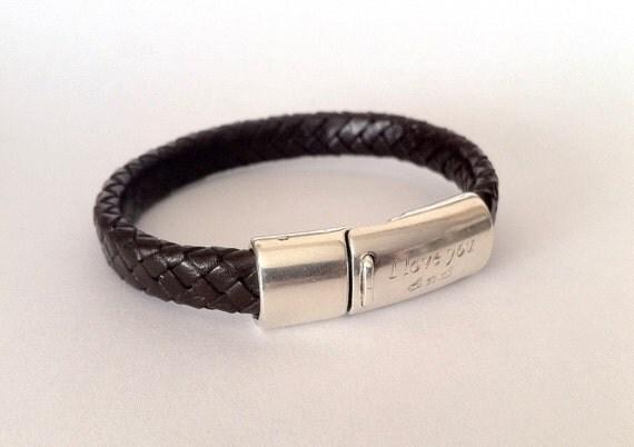 Engraved Bracelet For Men I Love You Dad Mens