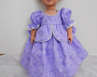 Pretty in Purple Dress for American Girl doll and other 18 inch dolls