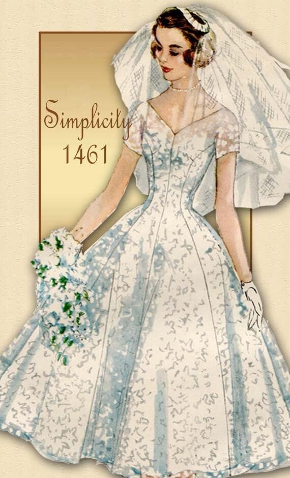 50s Wedding Dress Patterns Wedding Dress Pattern or