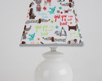 Dog Lamp Shade - Shade Only - Gifts for Dog Lovers, Dog Decor, Dog Home Decor, Designer Lamp Shades, Custom Lamp Shades