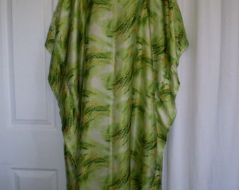 ORGANIC GREEN Mu Mu  Caftan Kaftan One Size Fits All