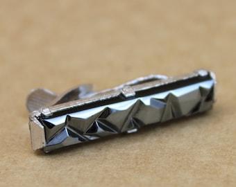 Black Geometric Tie Clip by Sarah Coventry
