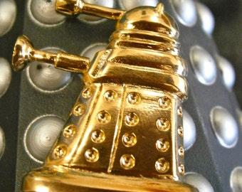 Gold Dalek brooch