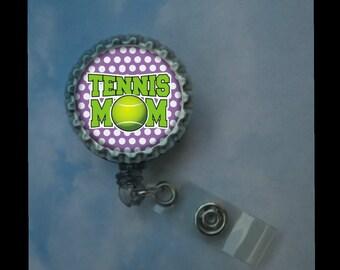 Tennis Mom badge reel, id tag--- Tennis mom, Tennis moms, nursing badge,badge id reel, retractable badge, velcro badge id badge