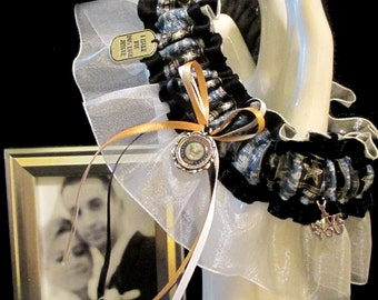 Army Wedding Garter - Toss Garter - Set - Military - Camo - Camoflage - Army Strong - Soldier -Bride - Bachlorette - Hooah