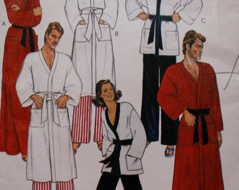 Mens /Womens Robe/ Jacket / Pants /Vintage Sewing Pattern/ McCalls 7729/ UNCUT/ 1980s