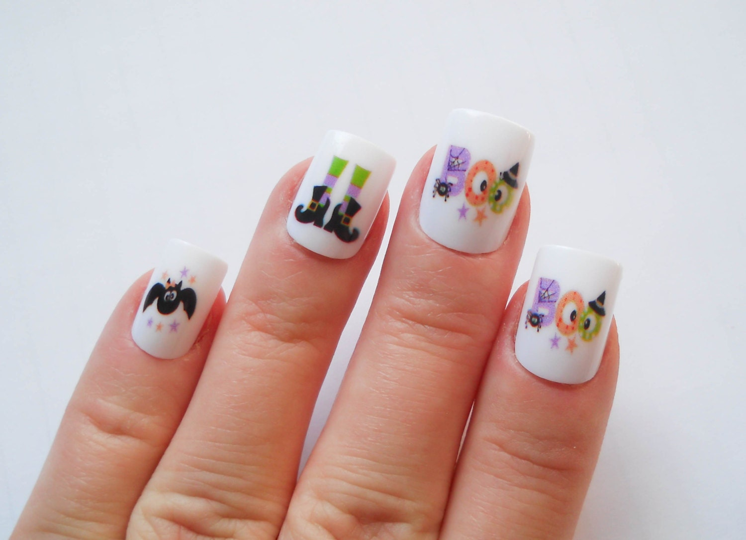 Halloween Nails Cute Nails Fake Nails Press on Nails by ...