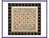 In The Pumpkin Patch (BRD-056) Cross Stitch Design