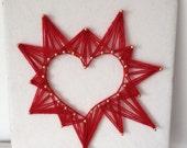 Reversed string art, heart