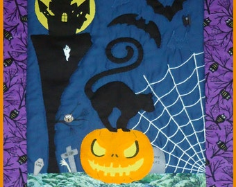 2013 Halloween Quilt / Wall Hanging Pattern - 2 Days Project