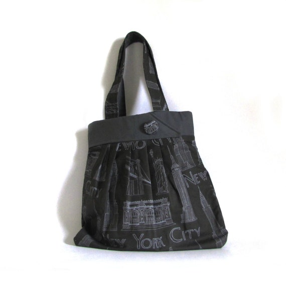 NYC Landmark Bag - Black & Gray