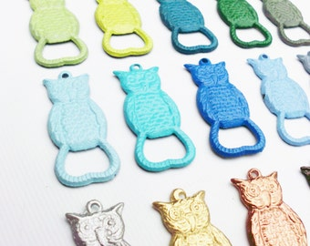 Owl Bottle Opener Keychain Pick Your Color Stocking Stuffer Primitive Cast Iron Key Chain Bar Accessory Beer Trendy Black Friday