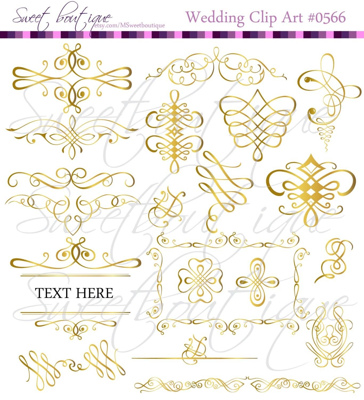 Gold calligraphy decorative vintage calligraphic digital frame