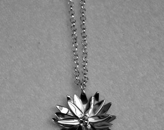 Waterlily Necklace - Handmade - Sterling Silver