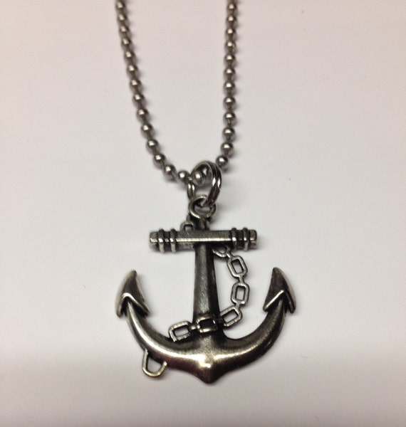 items similar to anchor necklace mens necklace anchor