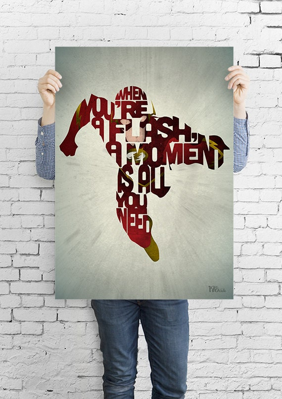 A Moment - A comic typography quote art print by 17th and Oak