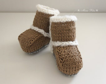 Baby Booties Hand Knitted Baby Shoes Boots Style Baby Ankle Booties Baby Slippers Baby Shower Gift