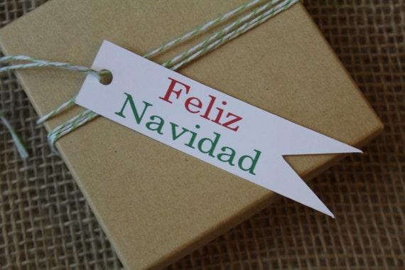 Feliz Navidad, Christmas Gift Tags, Gift Tags, Christmas, Paper Tags, Pennant Flag, Christmas Tags