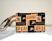 Anaheim Ducks Wristlet Cross Body Bag Cell Phone Pouch Small Tech Bag