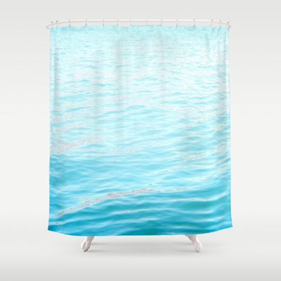 Shower Curtain Ocean Photography Bright By Souvenirphotography