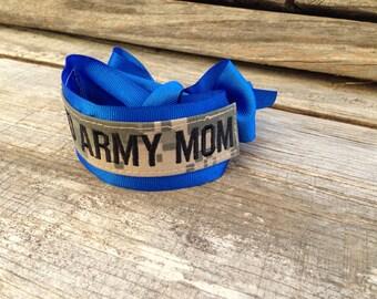 military acu name tape PROUD ARMY MOM bracelet