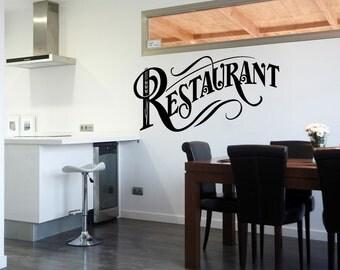 Restaurant Decal Sticker Kitchen Wall Decal Pantry Quote Kitchen Wallpaper (519)