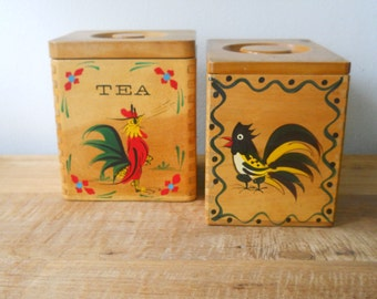 Wooden Woodpecker Woodware Rooster Box