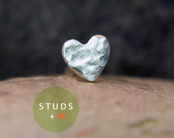 CARTILAGE or TRAGUS heart sterling silver/ cartilage earring tragus gold tragus earring cartilage gold cartilage ring nose studs