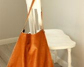 Soft Russet Large  Hobo Leather Hobo Bag