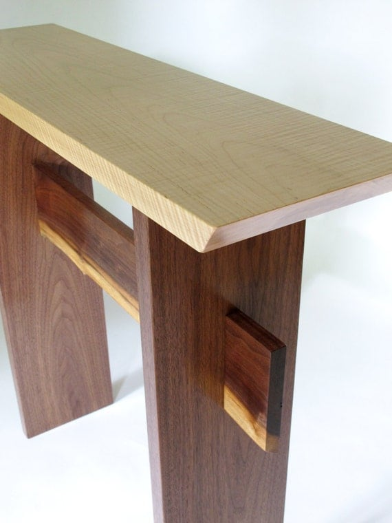 Narrow table for hallway console table narrow by for Thin hallway table