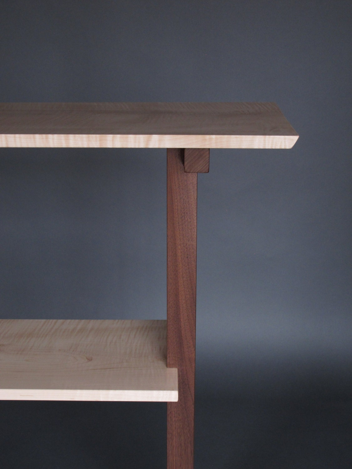 console table narrow hall table entry table handmade wood. Black Bedroom Furniture Sets. Home Design Ideas