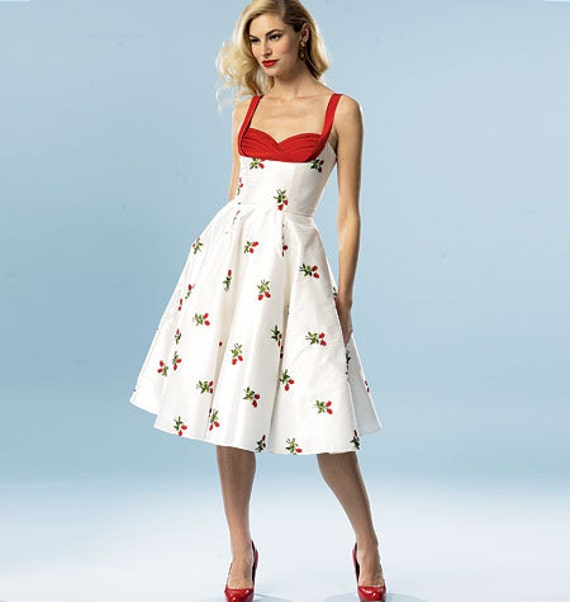 1950's Inspired Summer Dress Pattern By Butterick Patterns