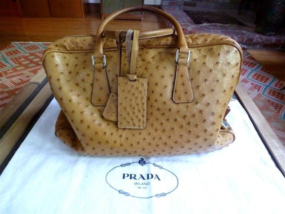 prada black bag - prada ostrich handbag