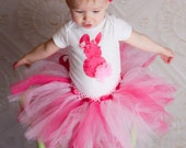 NB to 5T Easter Themed Custom Shirt, Tutu, Boutique bow and Leg Warmers