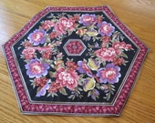 Black and Floral Table Topper