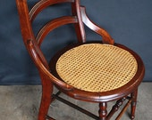 Beautiful Vintage Caning Seat Victorian Corner Chair