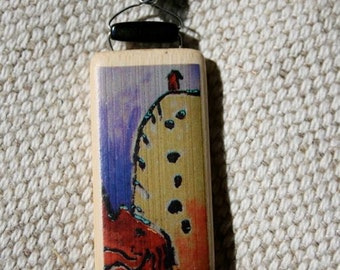 Red House Bamboo Tile Necklace