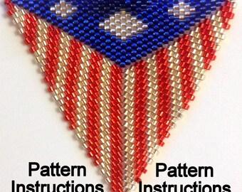 Bead Pattern Instructions: Peyote Triangle Pattern Tri0704