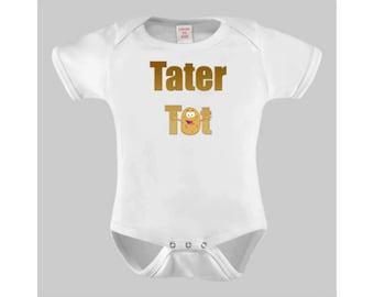 Tater Tot Funny Baby Bodysuit or Toddler Tshirt