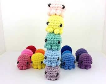 Mini Octopus Amigurumi Plush (optional: keychain or ornament)