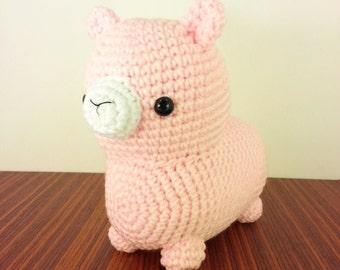 Midi Pink Alpaca Amigurumi Plush