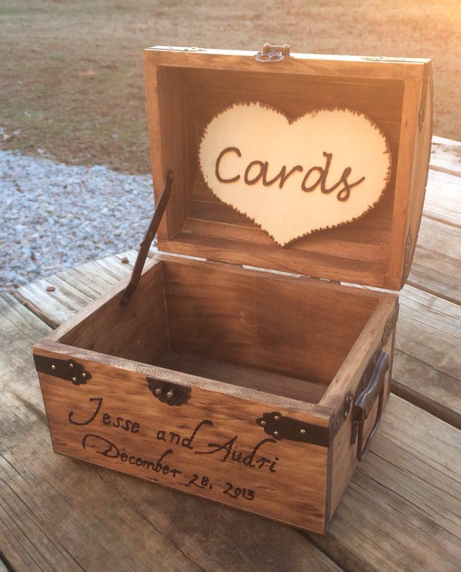 Card Box For Wedding: Shabby Chic Wedding Wooden Card Box Rustic Wedding Card