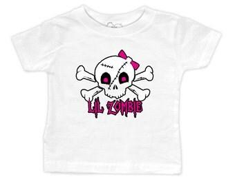 Lil Zombie Girl Skull T-Shirt
